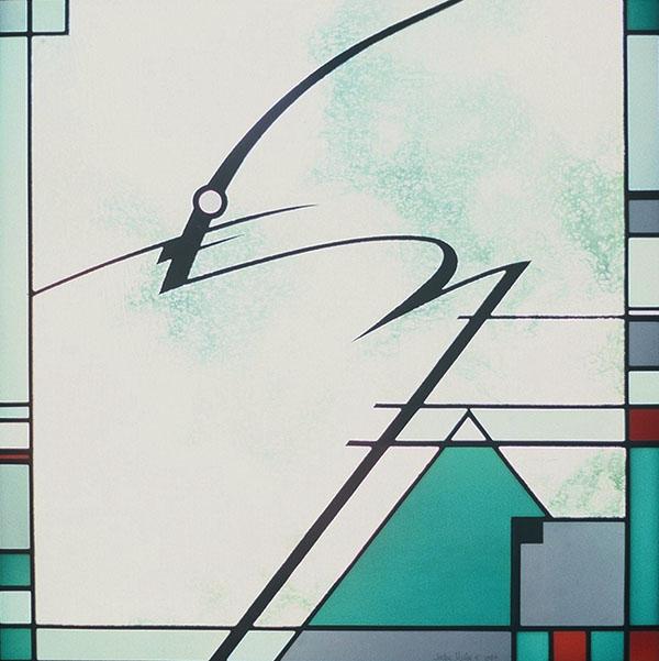 """""""Cakewalk"""" - leaded glass - 24x24"""