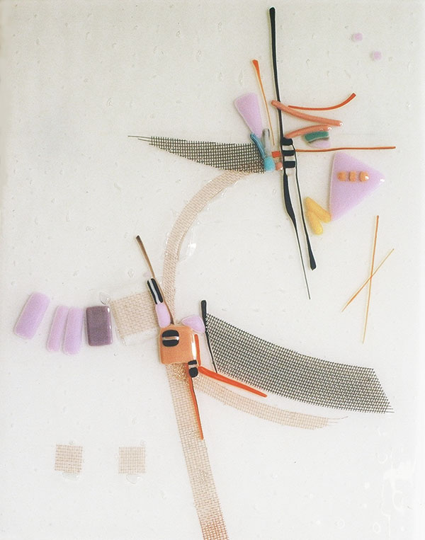 """For Dunbar Carpentar"" - fused glass - 12x15"