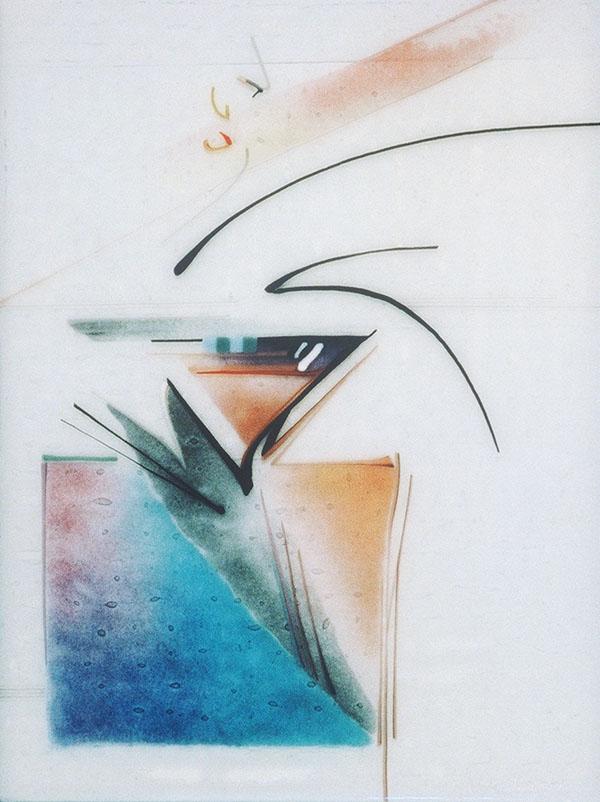 """Salishan No.2"" - fused glass - 12x15"