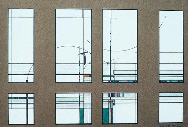 """Wickett Memorial Windows"" - 1 inch scale rendering"
