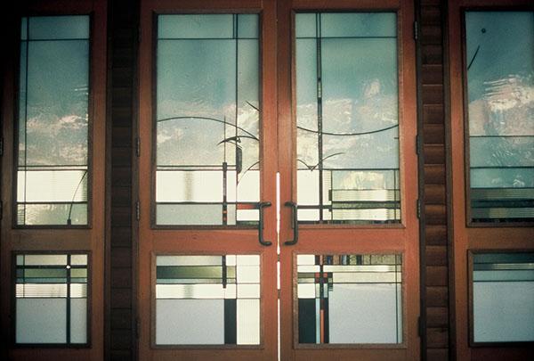 """Wickett Memorial Windows"" - leaded glass - 80x800"