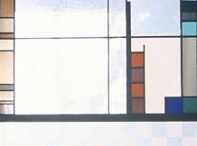 "'Carpentar commission"" - leaded/sandblasted glass - 20x72"