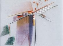 """Salishan No.1"" - fused glass - 12x15"