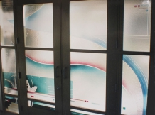 """Salzberg Entry"" - doors & windows - interior- 86x130"