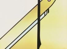 """Yellow Field"" - leaded glass-16x16"